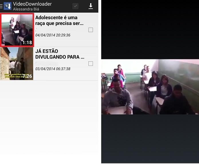 Ao clicar sobre o vídeo, é possível visualizá-lo em tela cheia (Reprodução/Taysa Coelho)