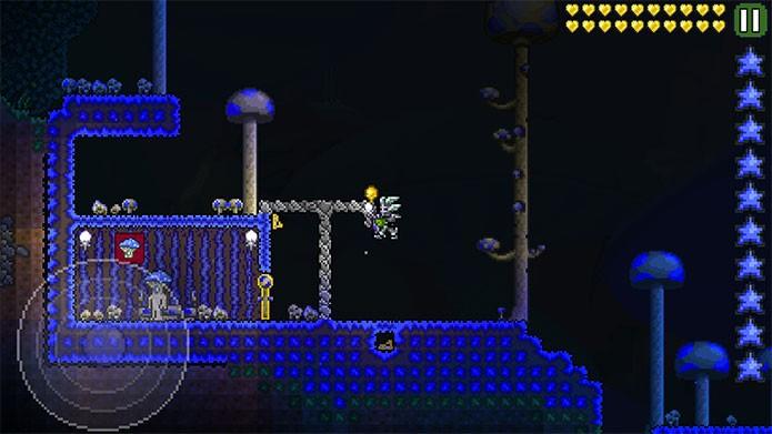 Inimigos possuem ataques extras no Expert Mode de Terraria (Foto: Reprodução/Felipe Vinha)