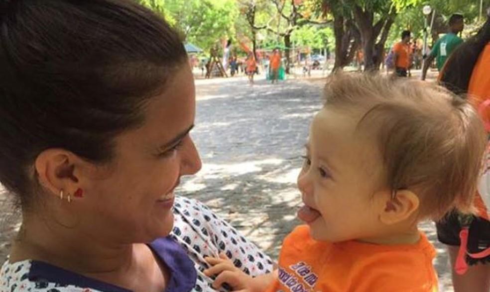 Foto de bebê com Síndrome de Down que foi alvo de ofensas em rede social (Foto: Acervo pessoal)