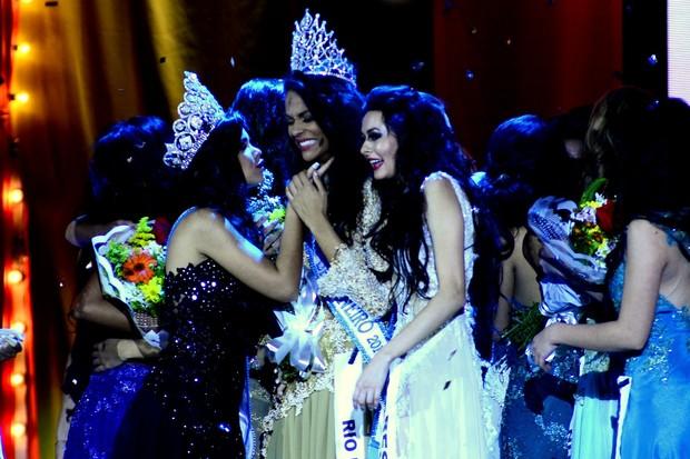 Hosana Elliot vence o concurso Miss Universo RJ (Foto: Roberto Teixeira/EGO)