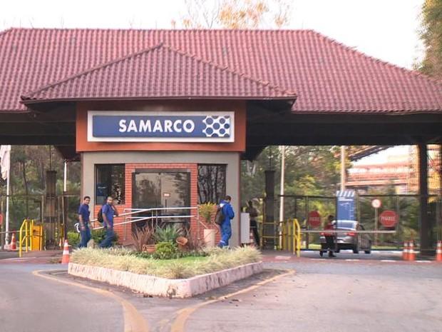 Samarco, em Ubu, Anchieta (Foto: Reprodução/ TV Gazeta)