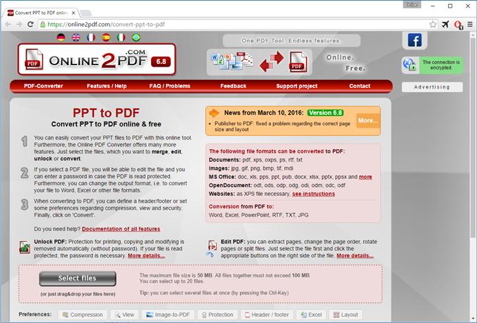 Online2PDF (Foto: Felipe Alencar/TechTudo)