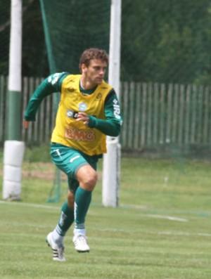 Lucas Mendes no treino do Coritiba (Foto: Gabriel Hamilko / GloboEsporte.com)