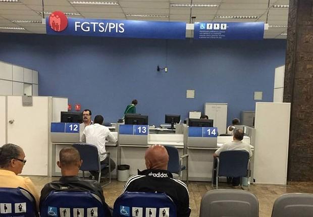 Unidade do INSS para atendimento do FGTS e PIS (Foto: Reprodução/Twitter)