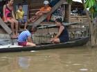 Número de pessoas atingidas pela cheia sobe para 17 mil, no Amazonas