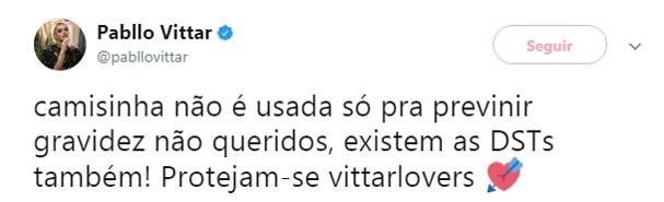 Twitter de Pabllo (Foto: Reprodução)