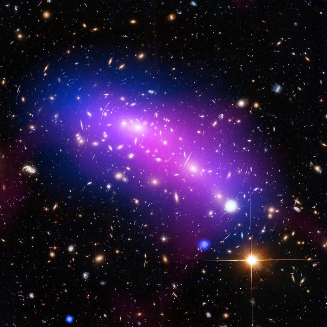 O objeto  MACS J0416.1-2403 (Foto: ESA/Hubble & NASA)