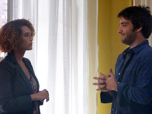 Davi aceita descobrir quem é Sandra e desmascarar Jonas  (Foto: Geração Brasil / TV Globo)