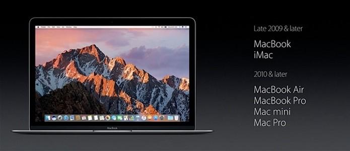 Lista de compatibilidade do macOS Sierra (Foto: Reprodução/OSXDaily)