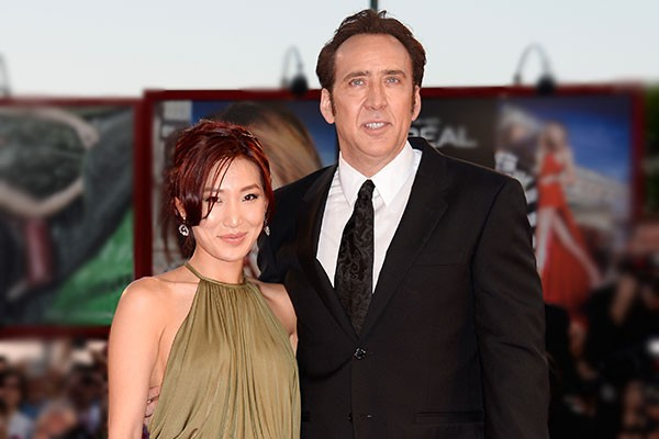 Nicolas Cage e Alice Kim (Foto: Getty Images)