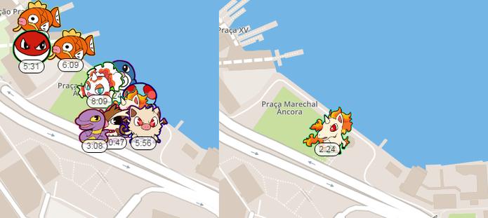 É possível escolher um Pokémon específico para facilitar a busca com o PokeRadar (Foto: Reprodução/Caio Fagundes)