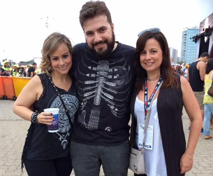 Maria Eduarda Esteves, a eterna 'Duda Little' veio com o marido Rodrigo Veiga e a irmã Bia Esteves (Foto: Tatiana Machado / Gshow)