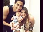 Paulo Henrique Ganso comemora um mês de vida do filho