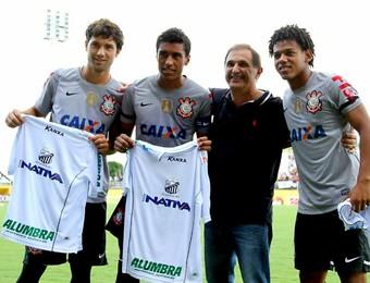 Felipe Paulinho Romarinho Marcos Chedid Bragantino Corinthians (Foto: Fábio Moraes/ CA Bragantino)