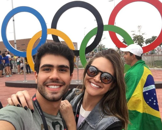 Juliano Laham e Juliana Paiva no Parque Olímpico Rio 2016 (Foto: Reprodução/Instagram)