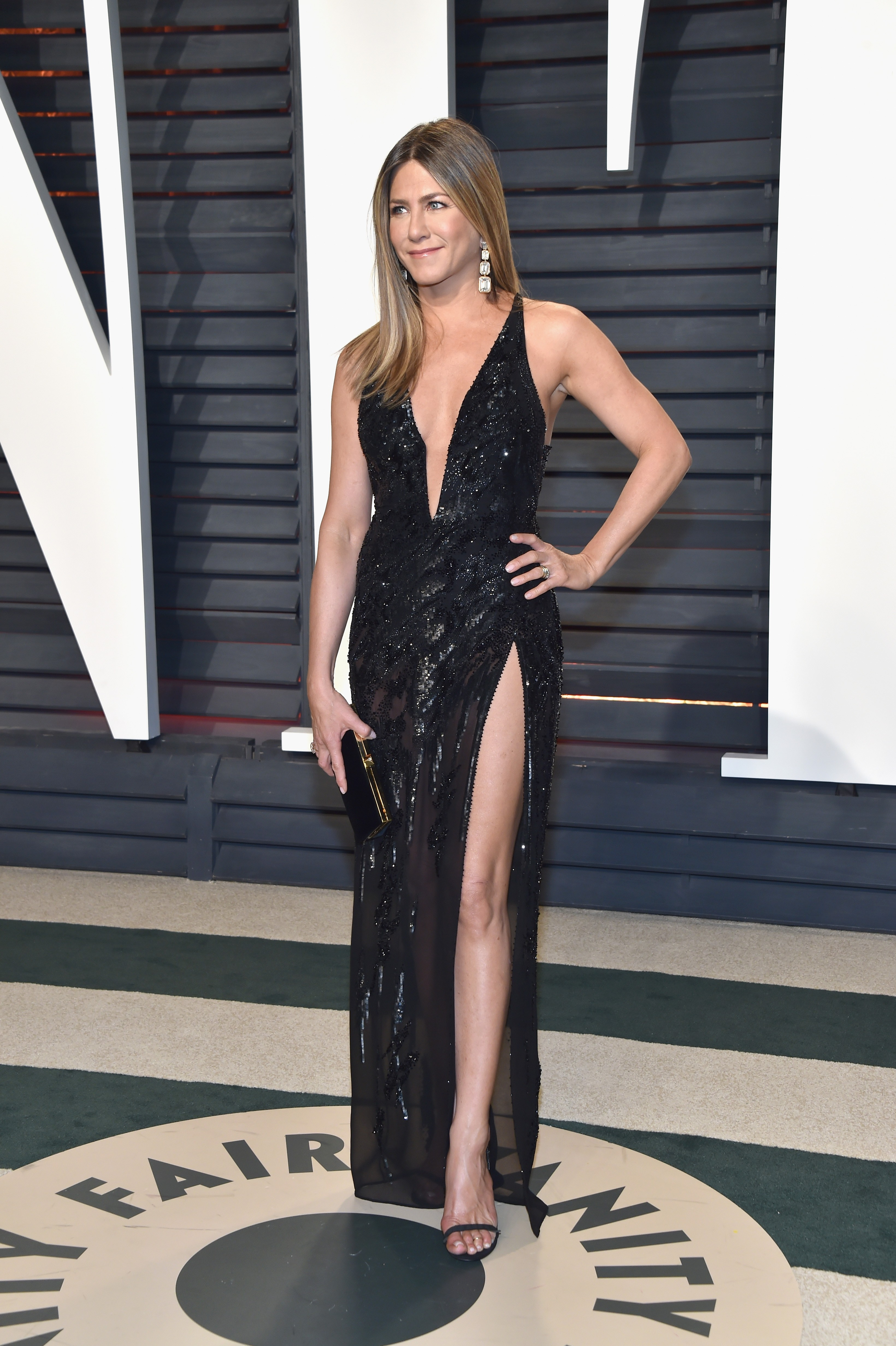 Jennifer Aniston na Vanity Fair After Party Oscar 2017 (Foto: Getty Images)