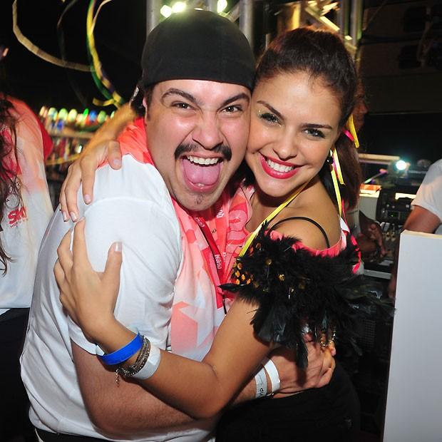 Paloma Bernardi com o amigo Thiago Abravanel (Foto: Deco Rodrigues)