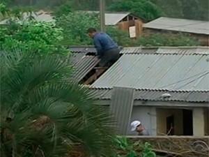 Chuva provocou danos em diversas cidades do Rio Grande do Sul (Foto: Reprodução/RBS TV )