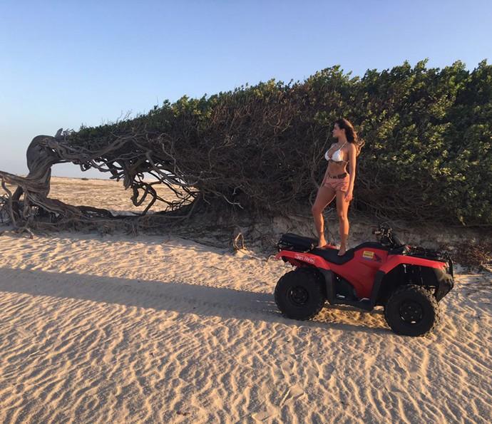 Natacha Horana diz que ficou fascinada com a beleza do local (Foto: Arquivo Pessoal)