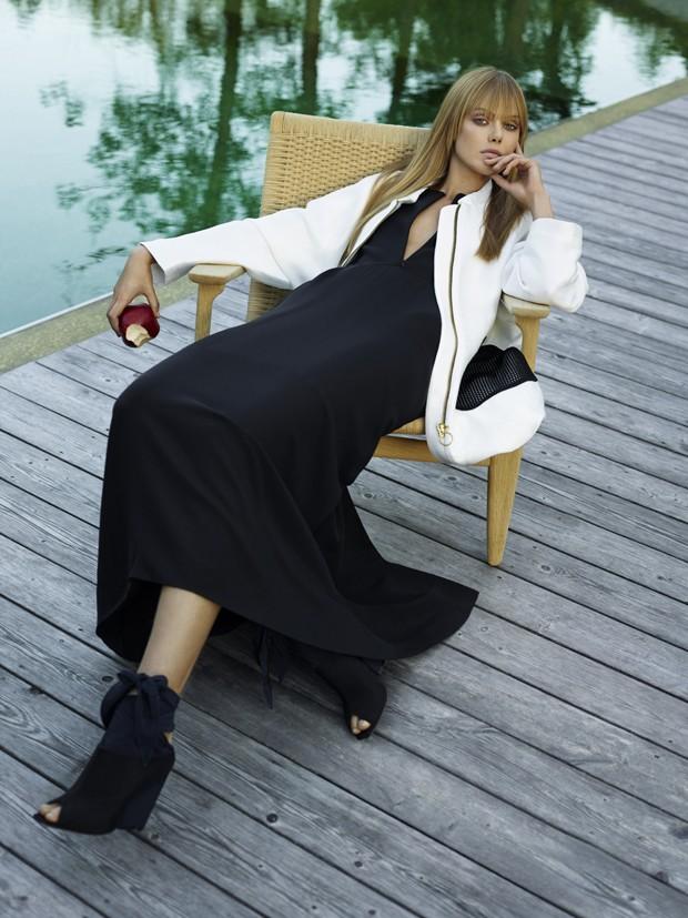 Frida Gustavsson na edição de outubro de 2014 (Foto: Peter Farago e Ingela Klemetz Farago/Arquivo Vogue)