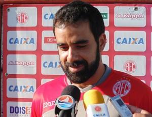Daniel Costa - meia do América-RN (Foto: Carlos Cruz/GloboEsporte.com)