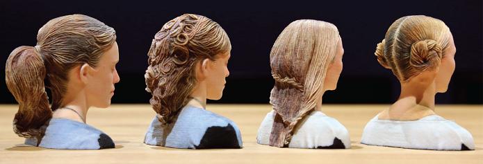 Miniaturas em 3D com cabelos bem realistas (Foto: Divulgação/Disney)