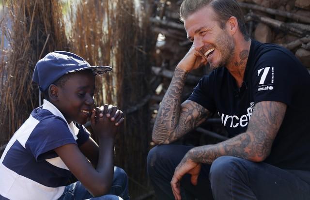 David Beckham é embaixador da UNICEF (Foto: Getty Images)