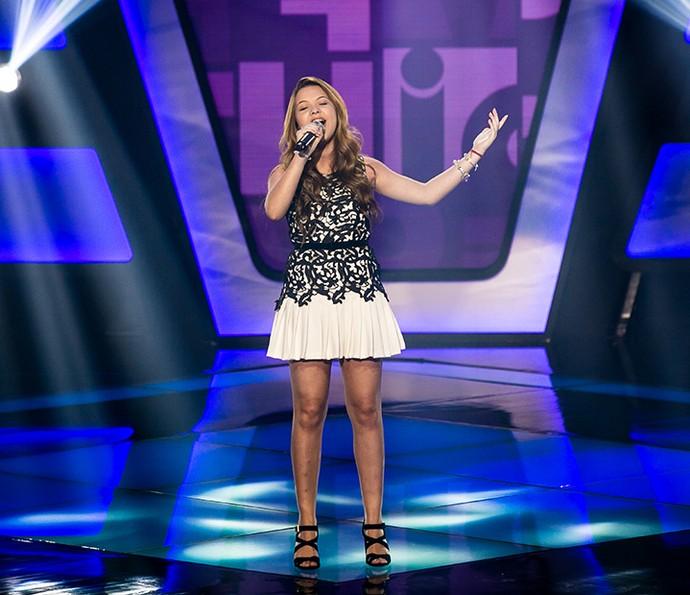 Júlia Gomes cantou Listen no The Voice Kids (Foto: Isabella Pinheiro/Gshow)