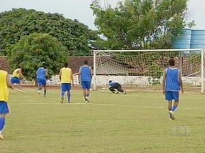 Interporto já está treinando para competições de 2014 (Foto: Reprodução/TV Anhanguera)