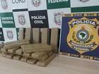 Dois são presos com 24 tijolos de maconha que seriam vendidos no DF