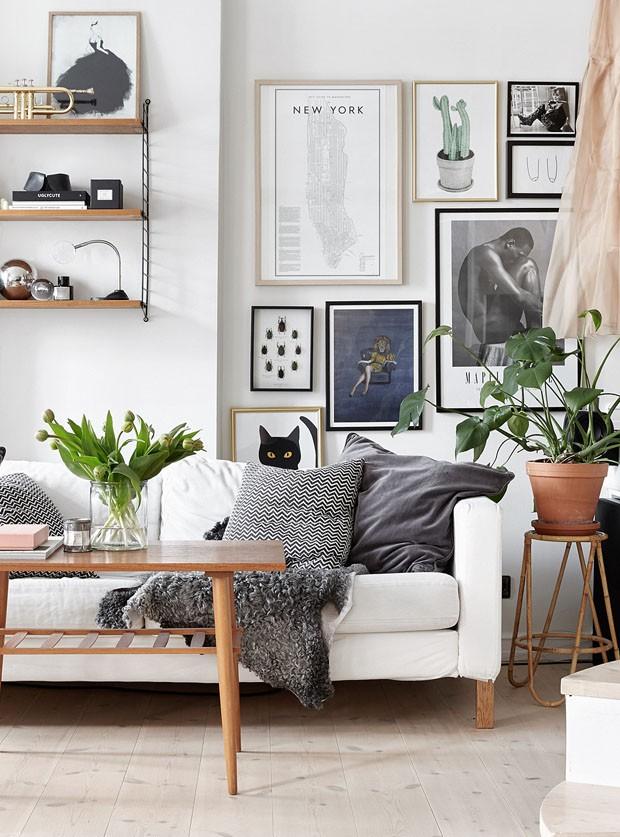3d50062f8 Décor do dia  sala branca com plantas e quadros. - Confira as últimas  novidades da Xavel