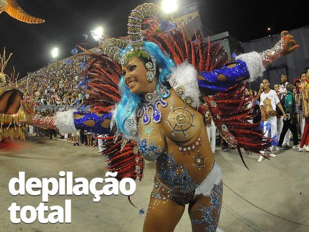Andreia Martins, musa da Unidos de Padre Miguel (Foto: Alexandre Durão/G1)