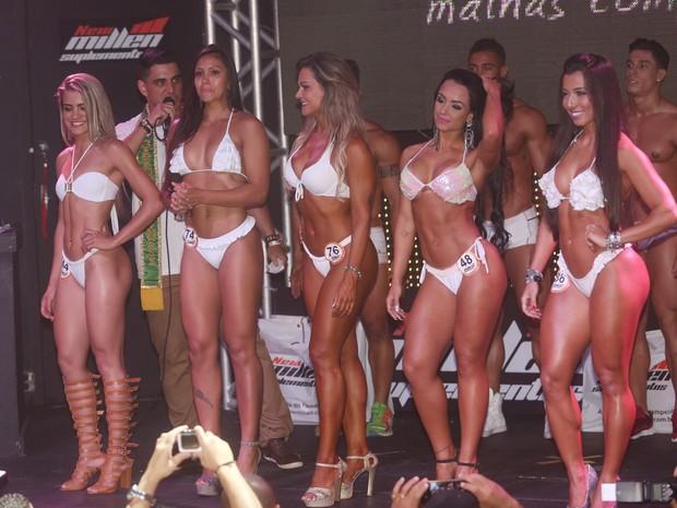 Finalistas do concurso Garota Fitness em São Paulo (Foto: Iwi Onodera/ EGO)