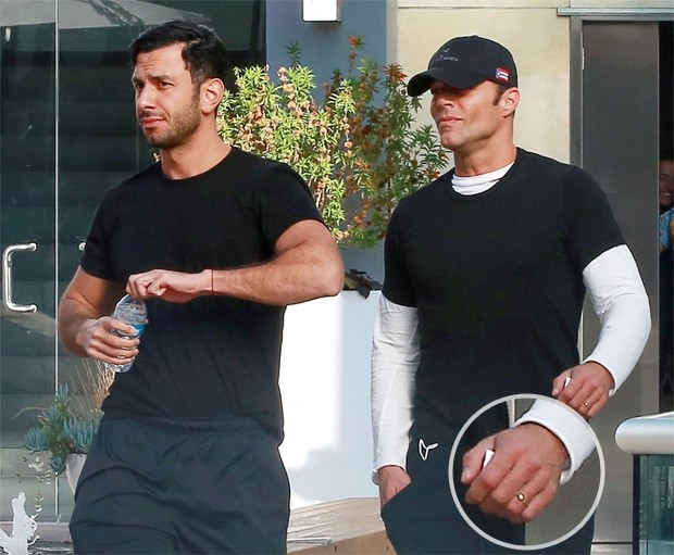 Ricky Martin e Jwan Yosef (Foto: BACKGRID)