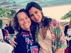 Paula Morais posa com mãe de Ronaldo: 'Amei nosso fim de semana'