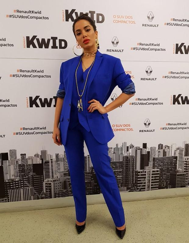 Anitta em evento de montadora (Foto: Divulgação)