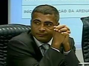 Romário Deputado Federal (Foto: Reprodução SporTV)