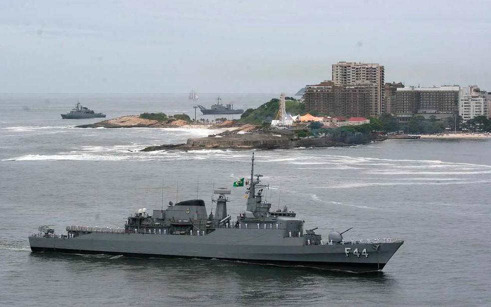 Fragata Independência também pode ser visitado pelo público em Salvador (Foto: Marinha do Brasil/ Divulgação)