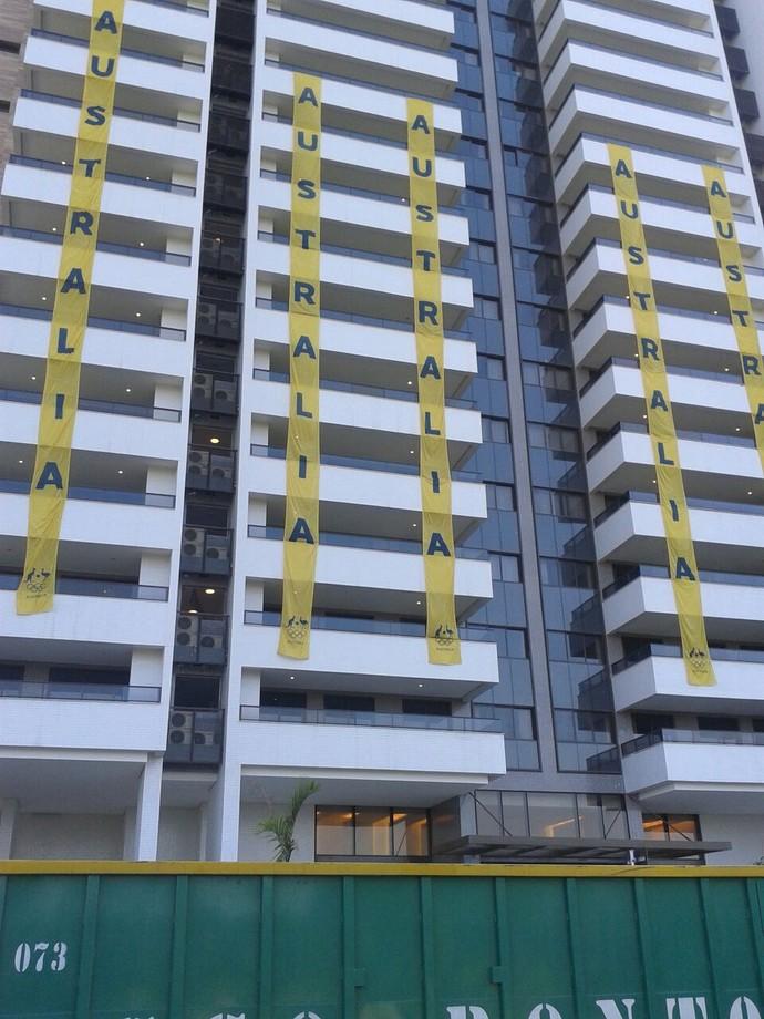 Prédio que abriga os australianos na Vila Olímpica apresentou diversos problemas em acabamento e instalações (Foto: GloboEsporte.com)
