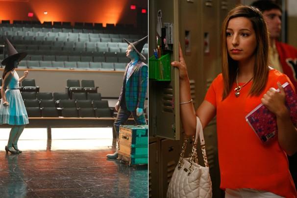 Rachel e Kurt praticam para a seleção da AADNY e Sugar entra para o clube glee (Foto: Divulgação / Twentieth Century Fox)
