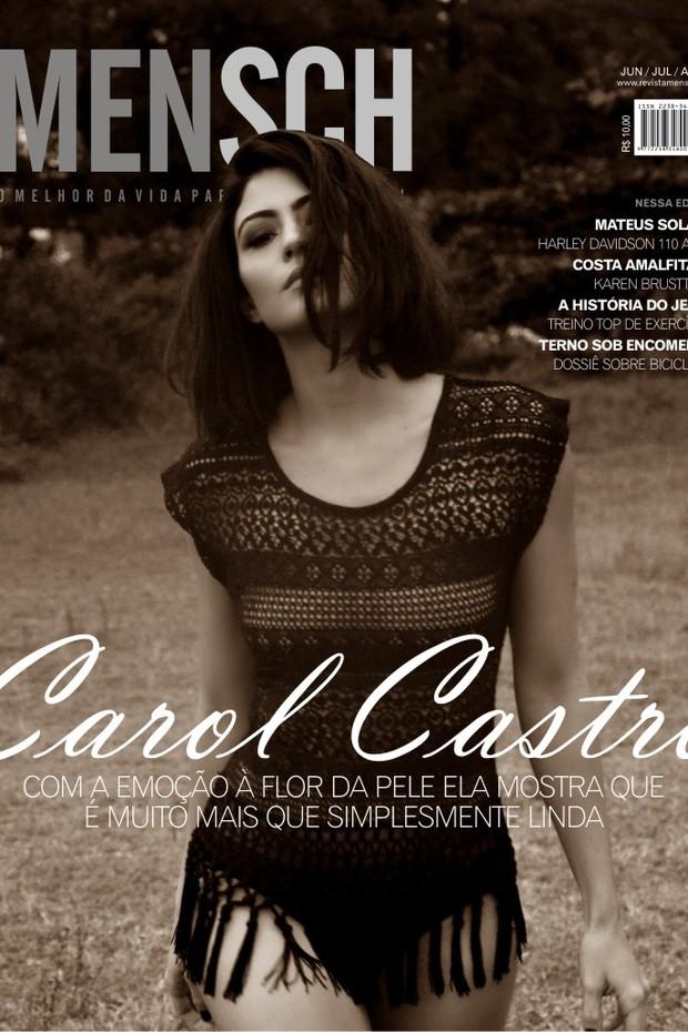 Carol Castro posa para a revista Mensch (Foto: Sérgio Santoian/Divulgação)