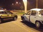 PRF apreende suspeito de assalto após acidente na região de Curitiba