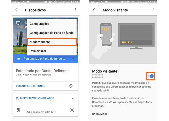 Ative o modo de visitante no Chromecast pelo Google Home (Foto: Reprodução/Barbara Mannara)