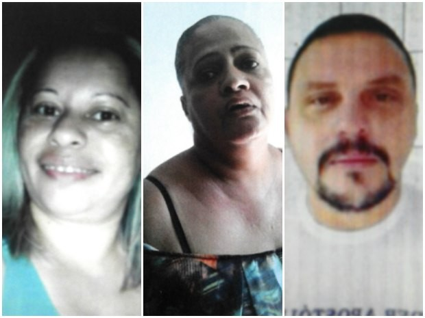Os suspeitos Janice dos Passos, Betânia Maria Matins e João Pinheiro, respectivamente. Procedimetos foram realizados pela Polícia Civil (Foto: Jackson Felix/G1 RR)