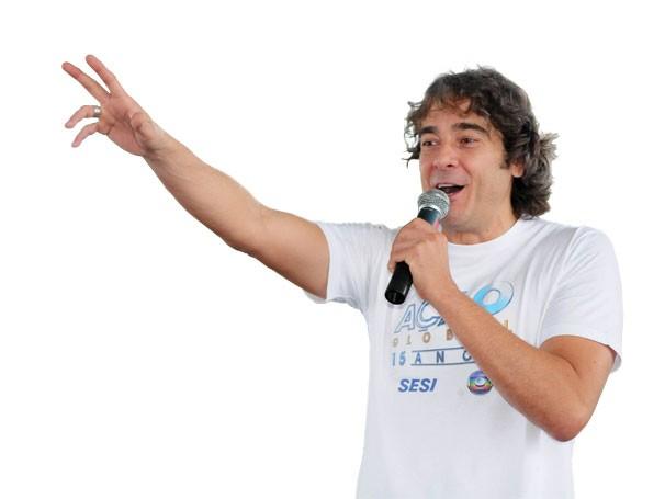 Atores como Alexandre Borges participam ativamente da agenda da Ação Global (Foto: Divulgação)
