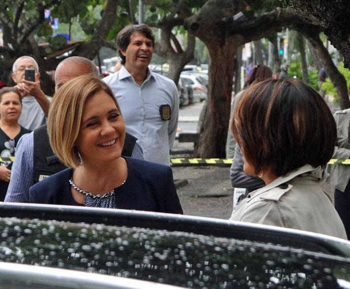 Adriana Esteves e Gloria Pires gravam cenas de 'Babilônia' (Foto: Juliana Lessa/Gshow)