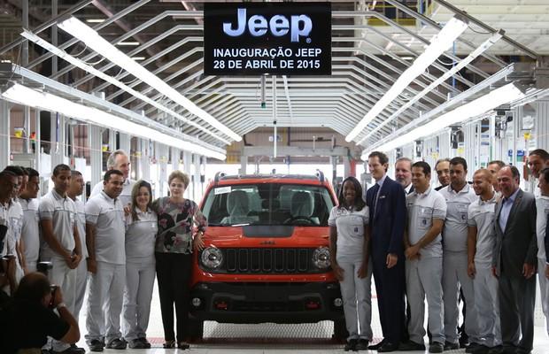Fábrica da Jeep é inaugurada em Pernambuco com a presença de Dilma Rousseff (Foto: Rafael Neddermeyer / FCA)