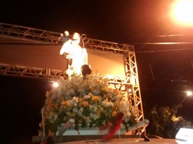 Procissão motorizada em homenagem  a São Cristóvão no Recife (Foto: Camila Torres/ TV Globo)