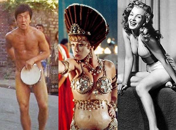 Jackie Chan, Helen Mirren, Marilyn Monroe (Foto: Divulgação / Getty Images)