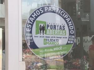 Selo das lojas de Cacoal (Foto: Rede Amazônica/ Reprodução)